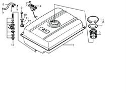 Резинка топливного патрубка бензогенератора Elitech БЭС 2500 Р (рис.8) - фото 22921