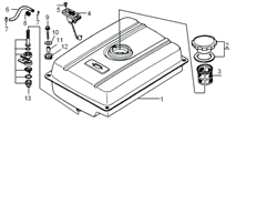фланцевый болт бензогенератора Elitech БЭС 2500 Р (рис.9) - фото 22922