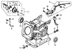 картер двигателя бензогенератора Elitech БЭС 3000  (рис.)