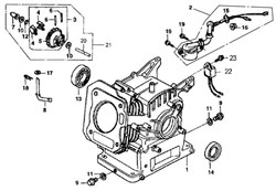 шестерня регулятора оборотов в сборе бензогенератора Elitech БЭС 3000  (рис.3)