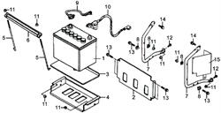 специальный болт для крепления аккумулятора 504051-235000 бензогенератора Elitech БЭС 3000 Р  (рис.5) - фото 23215
