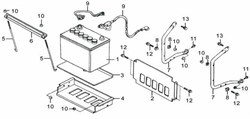 Батарея в сборе бензогенератора Elitech БЭС 6500   (рис.1) - фото 23380