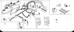 Контрольная панель в сборе БЭС 8000/8000ЕТ бензогенератора Elitech БЭС 8000 / БЭС 8000 ЕТ   (рис.22) - фото 23596