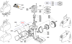 Винт M5х16 торцевой безмасляного коаксильного компрессора ElitechOM 195/24 (рис.601) - фото 23965