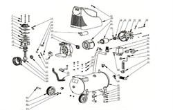 Подшипник 6204 RZ 20x47x14 ротора безмасляного коаксильного компрессора ElitechКПБ 190 (рис.24) - фото 24425