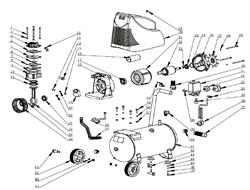 Крышка эл/двигателя задняя D47х14-128-52 6005 RZ безмасляного коаксильного компрессора ElitechКПБ 190/24 (рис.26) - фото 24521