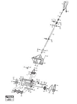 Вал шнека снегоуборочной лопаты Stiga ST 1131 E (рис.41)