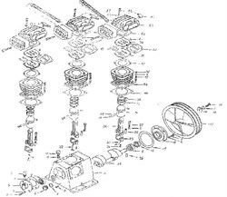 Болт М8х20 компрессорной головки ElitechТС 3065 (рис.1) - фото 25049