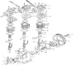 Прокладка клапанной плиты промежуточная компрессорной головки ElitechТС 3065 (рис.40) - фото 25118