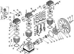 Клапанная плита в сборе TC3090-01-00 компрессорной головки ElitechТС 3095 (рис.24) - фото 25162