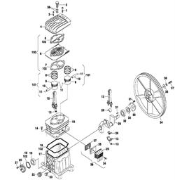 Вкладыши компрессора ременного ElitechКР200/AB510/3T (рис.28)