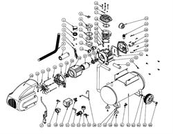 Болт М8х25 под ш-гр-к крепления цилиндра масляного коаксиального компрессора ElitechКПМ 200/24 (рис.21)