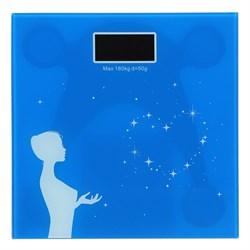 Весы напольные электрон., ЖК-дисплей антиблик., макс. нагр. 180кг, 28x28см, VS-033