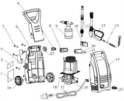 Впускной патрубок минимойки Elitech М 1500 Р/РС (рис.15) - фото 26726