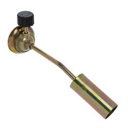 Горелка газовая ЧИНГИСХАН цанговый захват, широкое сопло из латуни; 19,5х4х6см