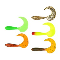 AZOR FISHING Приманка мягкая Shad, силикон, 9см, 8шт. в уп, 5 цветов