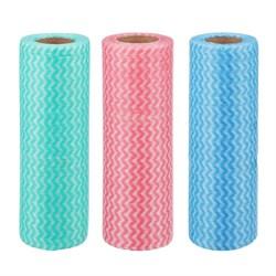 Набор салфеток, нетканый материал, 25шт в рулоне, 20x40см, 3 цвета