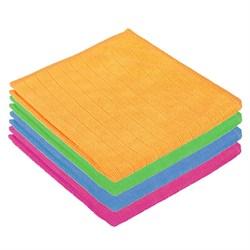Салфетка из микрофибры в клетку, универсальная, 30х30см, 220 г/кв.м. 4 цвета, 3822