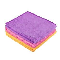 Набор салфеток из микрофибры, для кухни 3 шт, махровые, 30х35см, 3 цвета, 3830-22