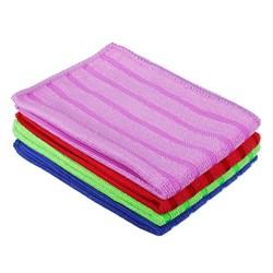 Набор салфеток из микрофибры для сильных загрязнений, 2шт, 25х35см, 300г/кв.м, 4 цвета