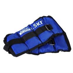 Набор утяжелителей для рук и ног текстильный, вес 1,0кг(+-90гр), 2шт х 0,5кг, 27х11см, 2 цв