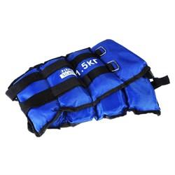Набор утяжелителей для рук и ног текстильный, вес 3кг(+-100гр), 2шт х 1,5кг, 37х15см, 2цвета