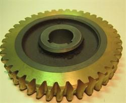 Червячная шестерня, правая (бронзовая шестерня редуктора) двухроторной затирочной машины Tremmer CT836 - фото 29454