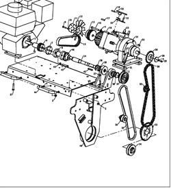 Корпус подшипника одновальцового катка Masalta MSR58 (рис.41) - фото 29783