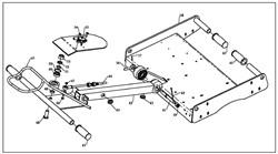 Вал включения хода одновальцового катка Masalta MSR58 (рис.64) - фото 29798