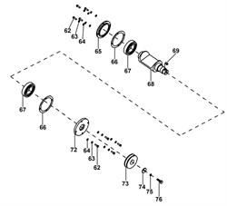 Кожух подшипника виброплиты Masalta MS50-2 (левый) - фото 29811