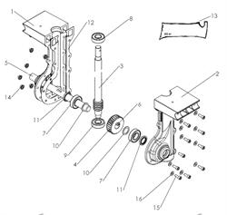 Вал редуктора культиватора Pubert MB FUN 350 (рис.5)