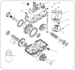 Пластина переключения скоростей коробки передач культиватора Masteryard MT 70R TWK+ (рис.8) - фото 307774
