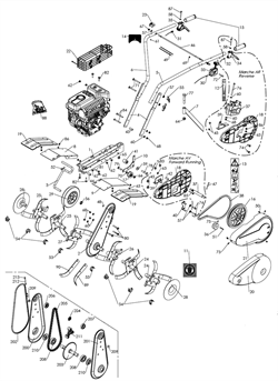Цапь редуктора культиватора Caiman Compact 40 MC (рис. 205)