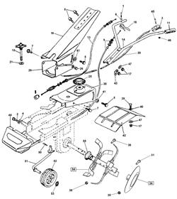 Тросик заднего хода культиватора AL-KO MH 5001 R