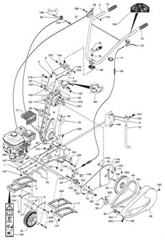 Трос газа культиватора Caiman QJ 60S TWK+ 0308040041