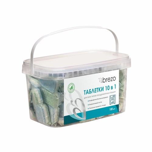 Таблетки ALL IN 1 Brezo бесфосфатные для посудомоечной машины, 100 шт. в водорастворимой пленке