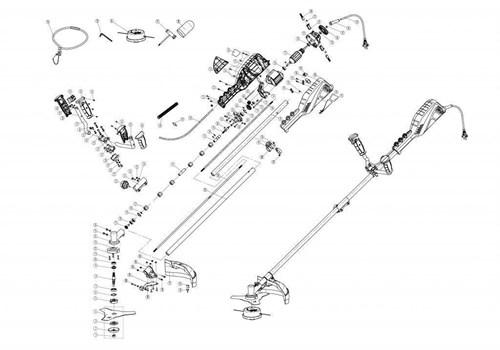 Основание ручки правое  электротриммера Ставр ТЭ-1700Р - 37