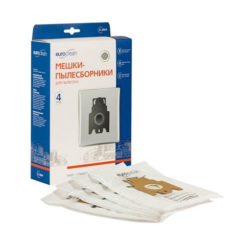 Мешки-пылесборники Euroclean синтетические 4 шт для HANSEATIC, HOOVER, IRIT и др. - фото 325473