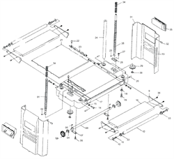 Накладка стола рейсмусового станка Энкор Корвет 21 (рис.21)