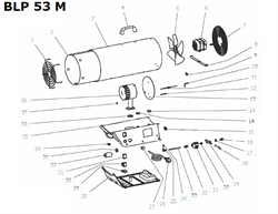 Камера сгорания тепловой пушки VANGUARD BLP 53 M