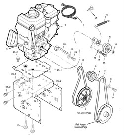 Шкив ремня привода хода/шнека ST969B&S,1076B&S на двигатель - фото 5363