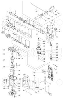 Выключатель перфоратора Sturm RH2514 (рис.55) версия 1 - фото 55992