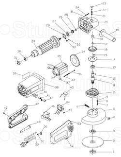 Правая ручка корпуса болгарки Sturm! AG9018 (рис.53) - фото 56794