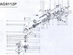 Кожух подшипника болгарки Sturm! AG9112P (рис. 34) - фото 57009