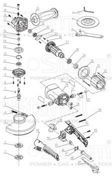 Ротор болгарки Sturm! AG9515E (рис. 27) - фото 57541