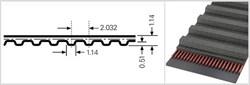 Зубчатый приводной ремень  398,4 МХL, L=1011,9 mm - фото 57836