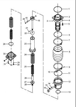Заглушка M14X1.5 вибротрамбовки Masalta MR75R - фото 5833