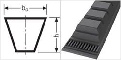 Ремень приводной клиновой  ZХ 19,5 Li=495mm, Ld=518mm - фото 58456