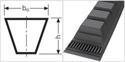Ремень приводной клиновой  ZХ 21  Li=533mm, Ld=556mm