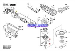 ШпиндельM14, SW17 болгарки Bosch GWS 19-150 CI (рис.32) - фото 59894